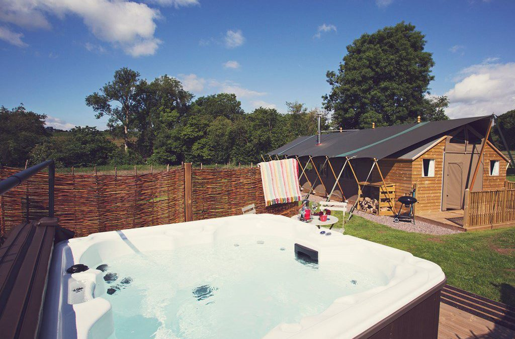 Private hot tubs!